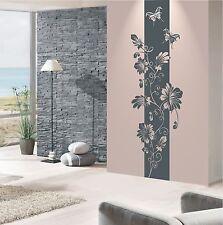 WANDTATTOO Wandaufkleber Wandsticker Blumen Ranke Banner Wohnzimmer Flur WT 527