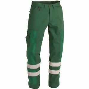 New Progarm 3700 40R Green Hi Vis 3M ScotchLite Binmen Cargo Safety Trousers