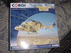 """Corgi Diecast Aircraft Model  """"Westland Lynx"""", 1991, 1:72 Scale, MIB"""