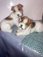 pair of vintage jack Russell terrier figures made In Japan