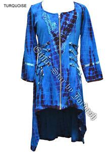 Jordash Embroidered Tie-Dye Cotton Dip Hem Dress/Top Festival Hippy 8-10 yrs