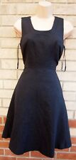 NEXT PETITES QUILTED FEEL SKATER SLEEVELESS A LINE FLIPPY FORMAL WORK DRESS 8 S