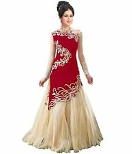 Indian Designer Ethnic Lehenga Long Anarkali Dress Wedding Bollywood Party wear