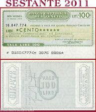 BANCA CATTOLICA DEL VENETO Lire 100 18.3. 1976 UNIONE COMMERCIANTI  TREVISO B41