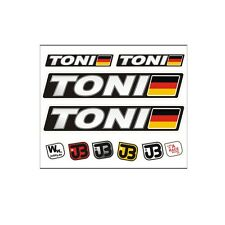 TONI Auto Fahrrad Motorrad Kart Helm Fahrername Aufkleber Sticker Flagge