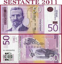 SERBIA  -  50 DINARA 2011  -  P 56  -  Prefix AA  -  Low number  -  FDS / UNC