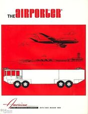 Afac the airporter Fire Fighting Vehicles bomberos folleto para 1977