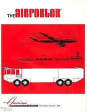 AFAC The Airporter fire fighting vehicles Feuerwehr Prospekt um 1977