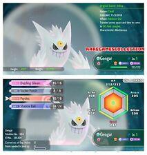 Pokemon Let's Go Pikachu Eevee ✨ SHINY ✨6 IV 1 LEVEL MEGA  Gengar FAST TRADE