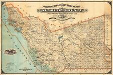 1880 Map San Francisco Alameda County Poster Print Decor Vintage Wall Art