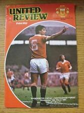 18/03/1981 Manchester United v Nottingham Forest (pliegue luz, no puntuación & Sub