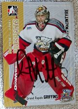 Detroit Red Wings Drew MacIntyre Signed 05/06 ITG H&P Grand Rapids Griffins Card