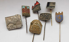 seven  latvian / estonia  soviet vintage home defence stick pins / badges