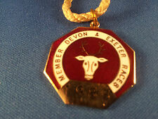 Devon and Exeter Horse Racing Members Badge - 1985