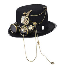 Steampunk Top Hat Gears Spikes Top Hats with Goggles Festival Cool Party