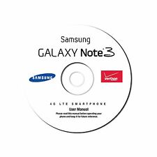 User Manual for Samsung Galaxy Note 3 Smart Cell Phone SM-N900V Verizon on CD