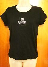 BACARDI SILVER Spice Rum juniors lrg T shirt bat logo NWT embroidered sexy tee