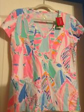 NEW Lilly Pulitzer MICHELE  Top OUT TO SEA MICHELLE Boats Nautical Free Ship