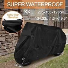 XXL Black Motorcycle Cover waterproof Heavy Duty For Winter Outside Storage Rain