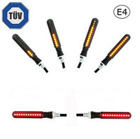 2x LED Motorrad Mini Blinker Bremslicht   Sequentiell Lauflicht   E4 Prüfzeichen