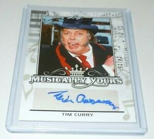 Tim Curry SIGNED Leaf Pop Century Musically Yours Trading Card Autograph Auto #d