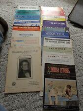 Lot Of 20 Vintage Sheet Music - Piano & Organ Nice