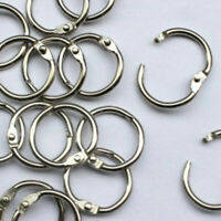10Pcs Metal Hinged Ring Book Rings Binder Scrapbook Keyring Craft Supply Art DIY