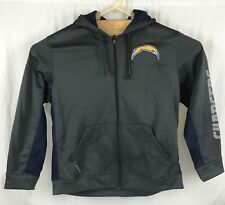 NIKE CHARGERS NFL on field apparel Hoody Size XL Grey On Field THERMA-FIT ~cts8