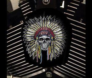 Harley Davidson Custom Horn cover Touring Dyna Softail Sportster M8 INDIAN SKULL