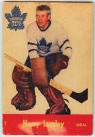 1955-56 Parkhurst Hockey #1 Harry Lumley Good Condition (2020-01)
