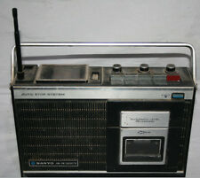 RARO Y ANTIGUO RADIO CASETE SANYO M 2400F, CASSETTE JAPON 1975, VER DESCRIPCION