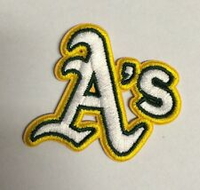 """Oakland Athletics  A's Vintage Embroidered Iron On Patch (A'S) 2"""" x 2""""  MLB"""