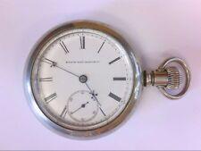 1887 Elgin OF Pocket Watch 18 S/ 11 or 15J w/ Railroad Monogram. NEEDS TLC!