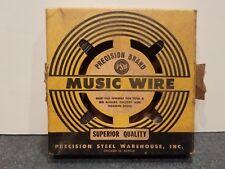 Music Wire Precision Brand .039 Diameter 1 Lb New in Box Made In Usa Gauge No.17