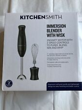 Immersion Blender 2 Speed with Wisk Black By Kitchen smith.