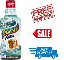 Dog Cat Dental Fresh Breath Pet Mouth Wash Teeth Gum Oral Care Clear 8oz