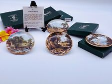 More details for vintage set of six mini wall plaques staffordshire constable series boxed