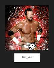 ZACK RYDER #1 (WWE) Signed (Reprint) 10x8 Mounted Photo Print - FREE DELIVERY