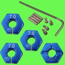 ► 1/10 Alu 7mm blau Radmitnehmer Rad Adapter 12mm Hex Sechskant reifen Tuning
