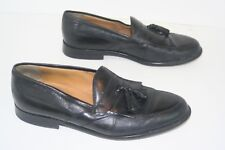 Johnston & Murphy Black Leather Tassel Loafers. Mens 9.5 M