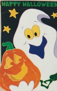 NEW CREATIVE GHOSTLY GREETINGS  LARGE APPLIQUE FLAG FREE SHIPPING