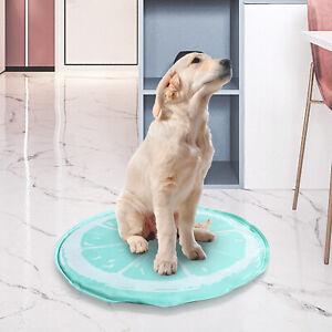 Pet ice pad gel cooling Mat green lemon single screen printing 60*60 Round