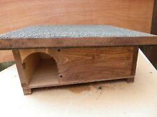 More details for hedgehog house/hibernation shelter solid wood handmade & predator proof brown