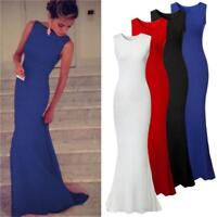 Women Bridesmaid Long Evening Party Prom Gown Cocktail Dress LP