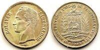 Venezuela-2 Bolivares  1945. Plata 10 g. SC/UNC. Color y brillo original