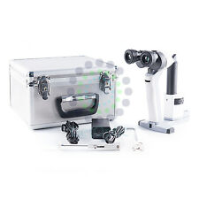 Portable Handheld Slit Lamp 3900 Microscope with Case Li-ion CE Approval B.New