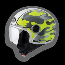 CPM31XL DEMIJET AIROH HELMET MILITARY COMPACT YELLOW GLOSS : SIZE XL