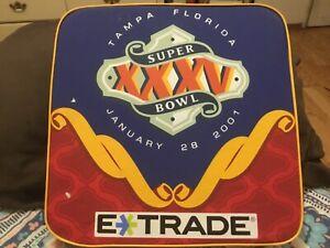 SUPER BOWL 35 (XXXV) SEAT CUSHION/BALTIMORE RAVENS,NEW YORK GIANTS,RAY LEWIS