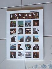 Bon Jovi - Crush - Rock Music Guitar Tab Song Book New Rare Warner Bros Pub 2000
