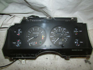 1987 1988 Ford Thunderbird Turbo Coupe 2.3L Instrument Gauge Cluster 124k miles